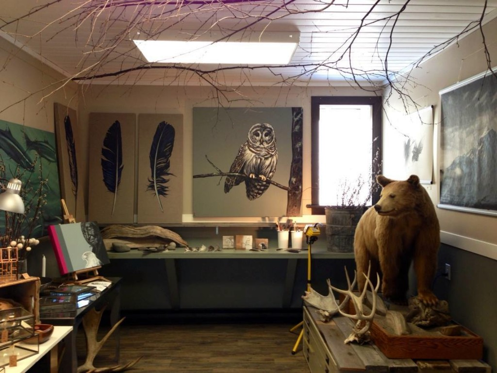 photo of studio at Art+Antler