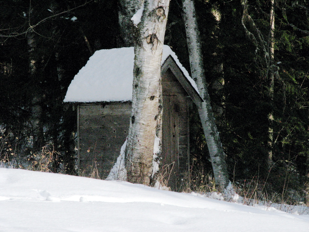 The outhouse in winter