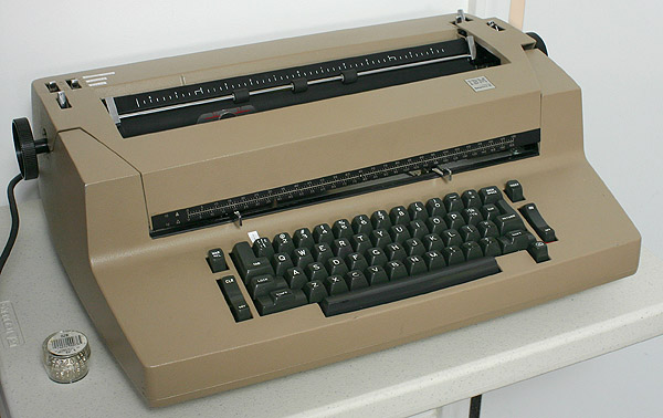IBM Selectric typewriter, photo reprinted from Covington Innovations.