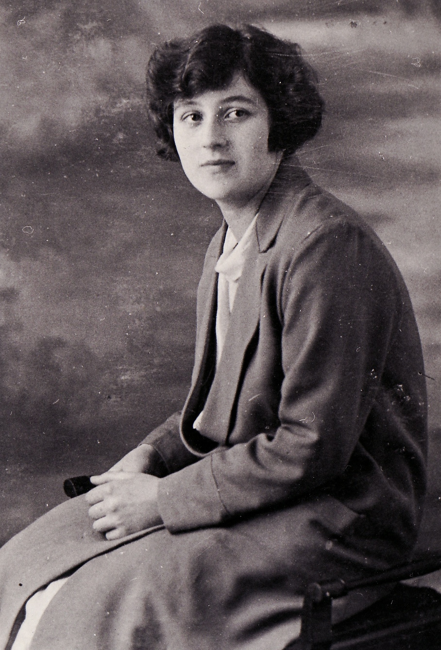 So many of my stories start here, with my grandmother, Betsy Burgess. This photo was taken shortly before she left England in 1926, age 19.