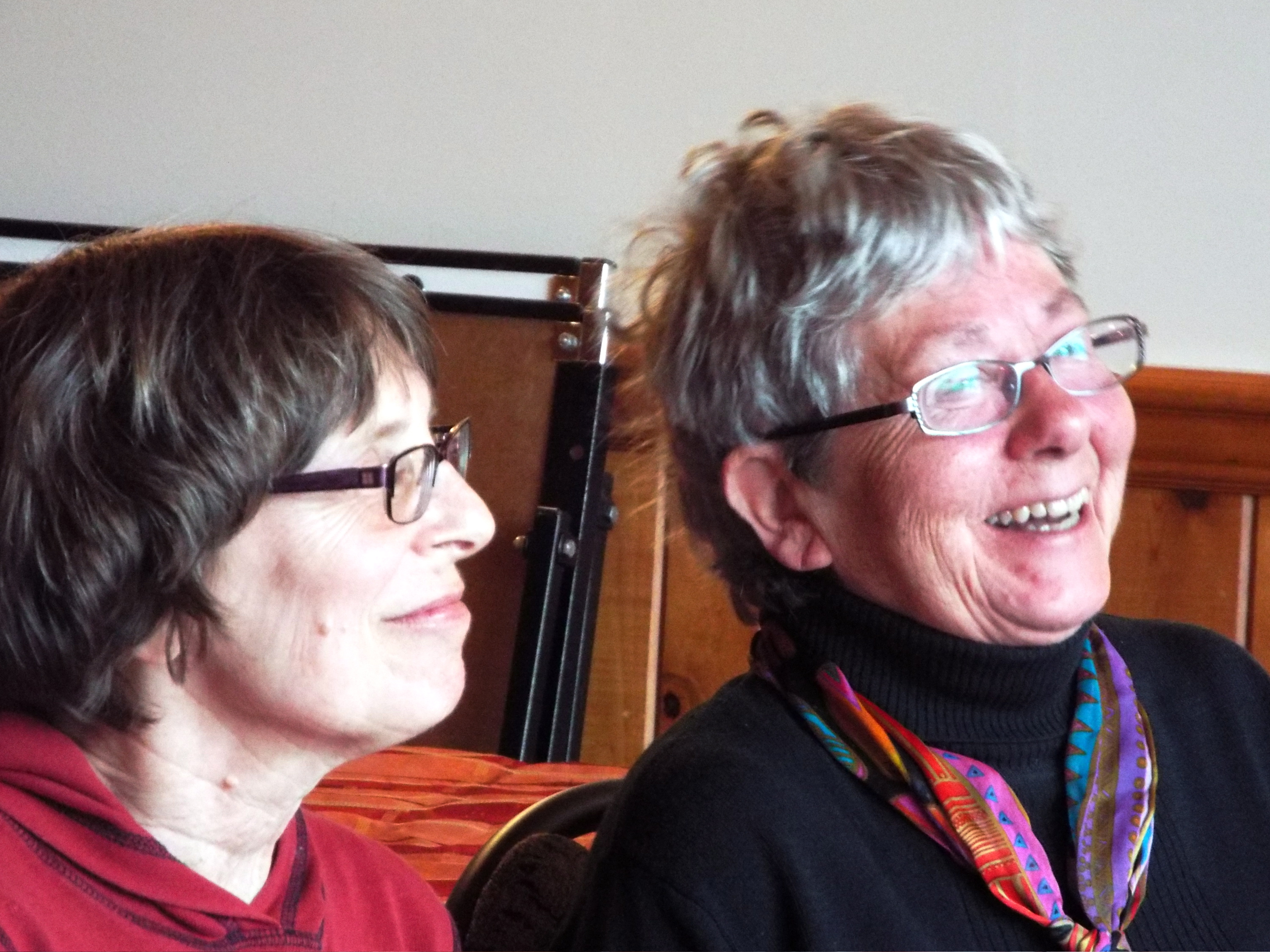 Hazelton writers Suzanne Ross and Maggie Carew.