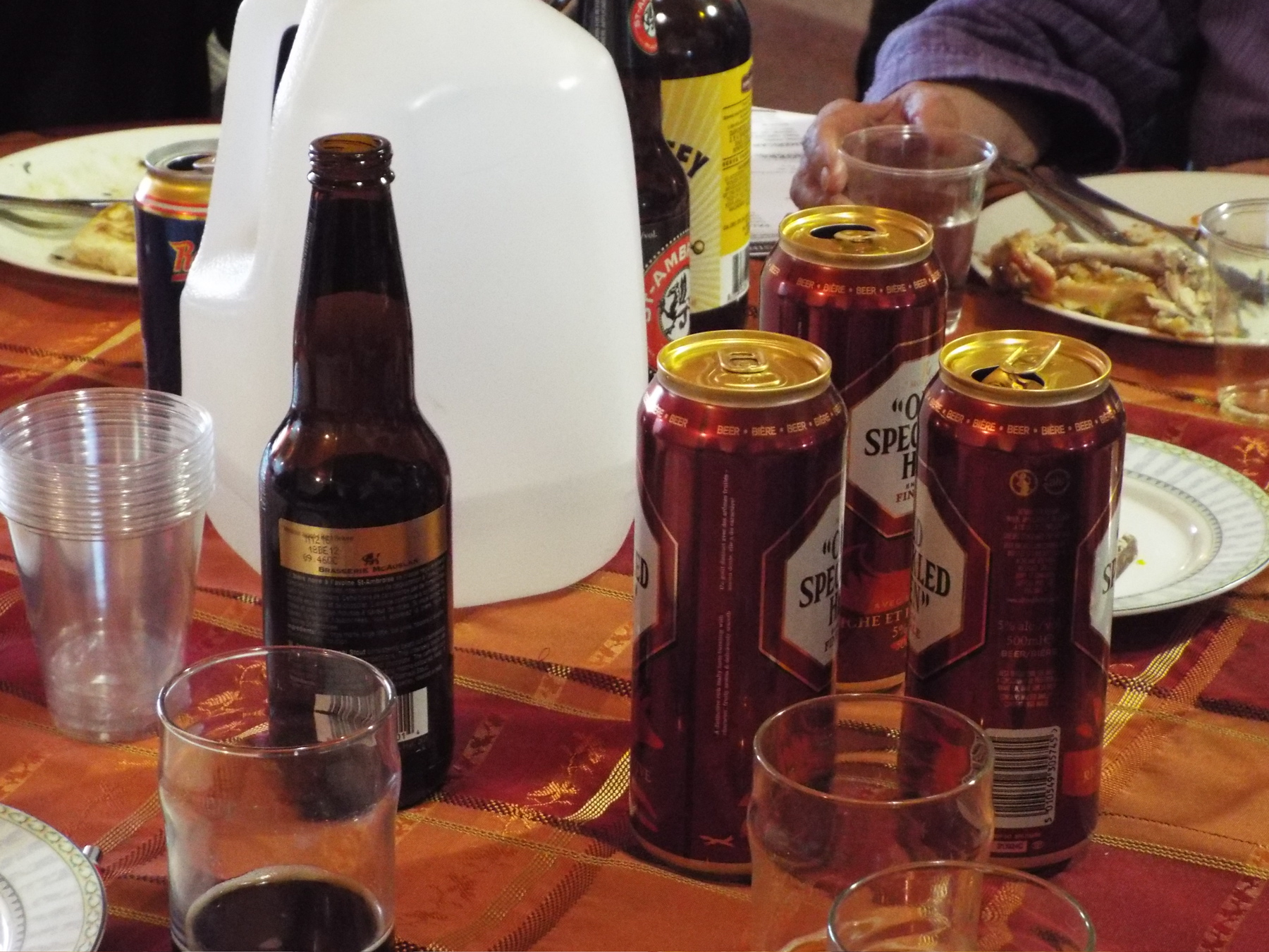 Our late afternoon beer-tasting session carried over into dinner.