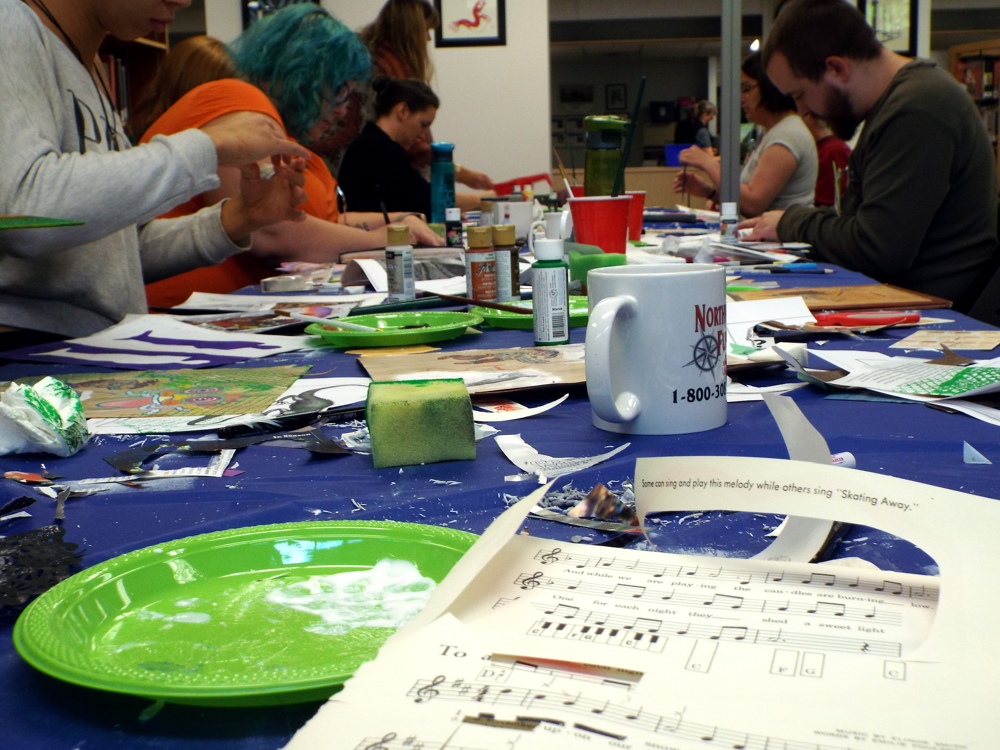 NorthWords annual writers' retreat: Altered Pages with artist Mo Hamilton