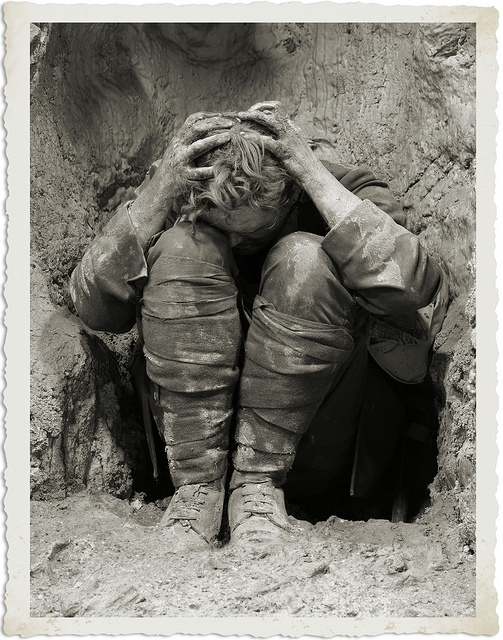 photo of unidentified shell-shocked WWI soldier